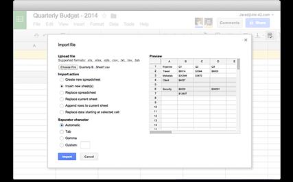 Google Sheets Import Files