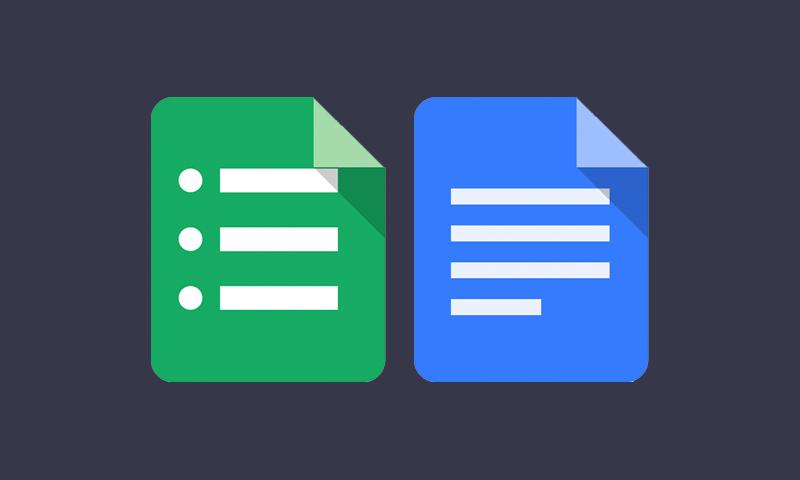 Google Docs & Sheets