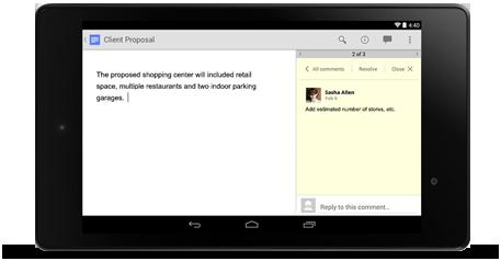 Google Docs Mobile
