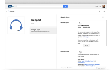 Google Apps Support