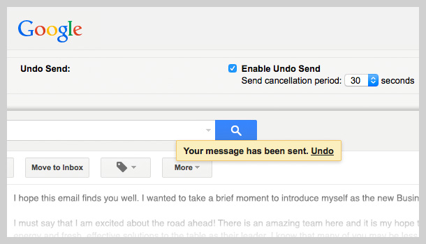 Gmail Undo Send